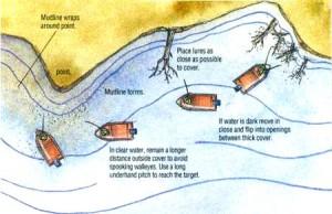 Ловля судака на дроп шот